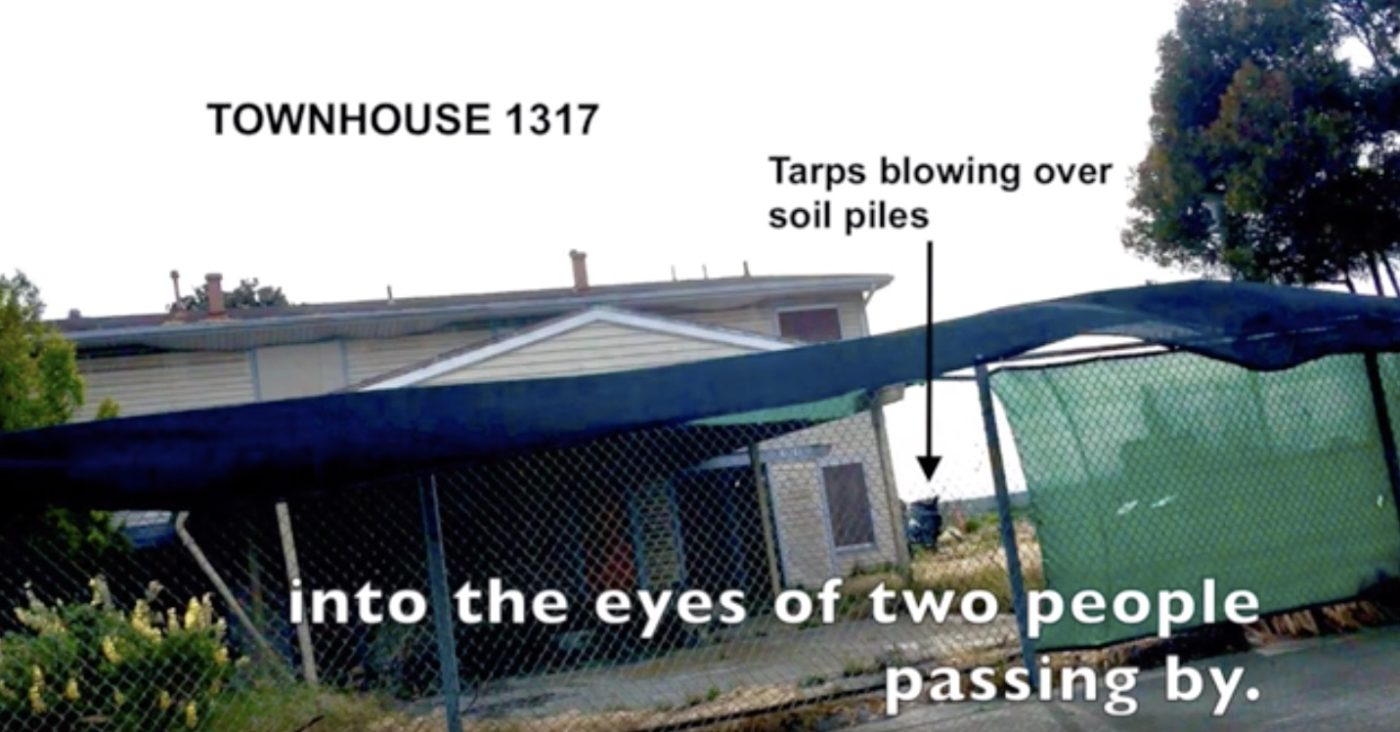 Video-screenshot-of-place-where-blast-hit-the-eyes-of-two-people-on-TI-by-Carol-Harvey-1400x732, Fair Warning: Developers cannot guarantee Treasure Island will be safe, Local News & Views